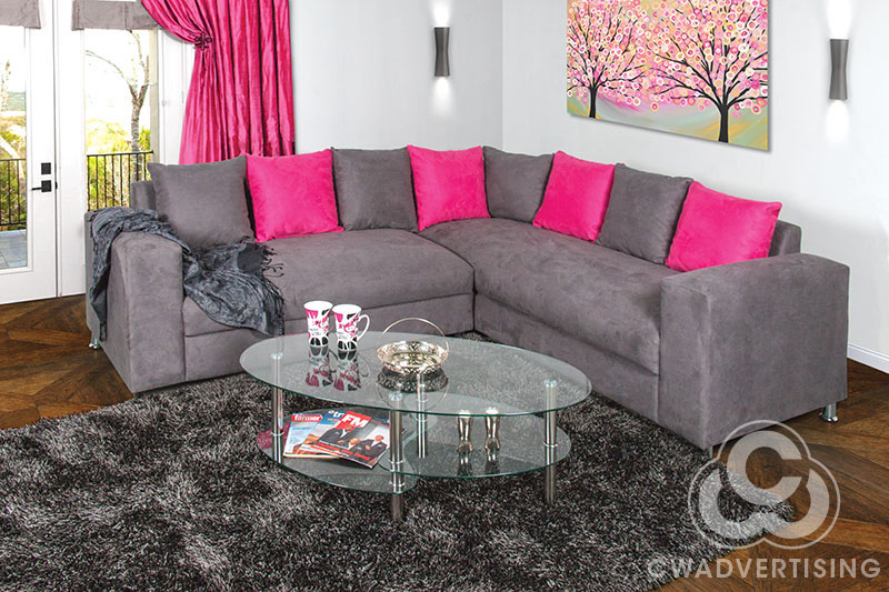 Furniture Photography – Corner Lounge Suite setting on location