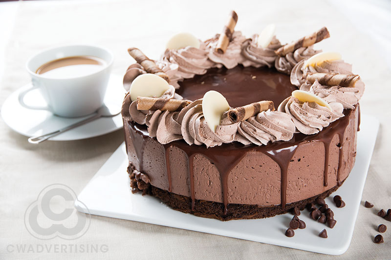 Food Photography – Cake styled for bakery department