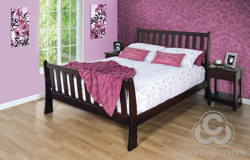 Furniture Photography – Bedroom setting on location