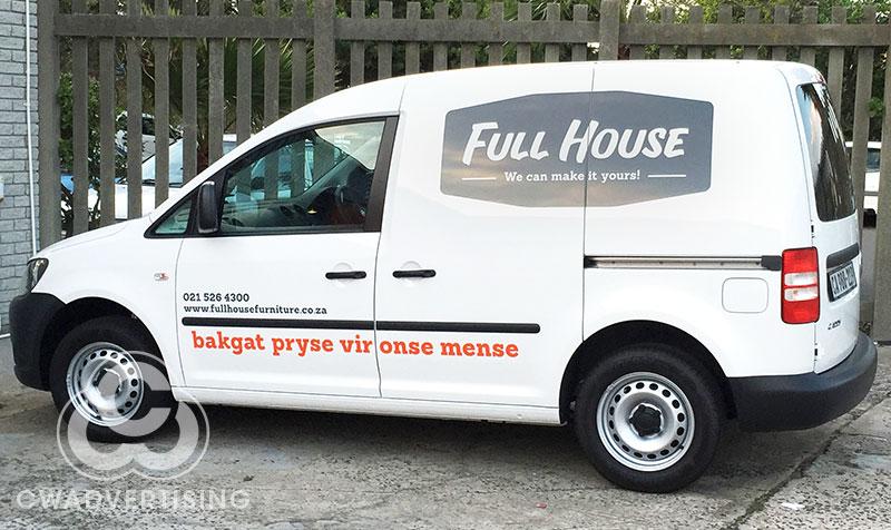 Full House – Vehicle Signage
