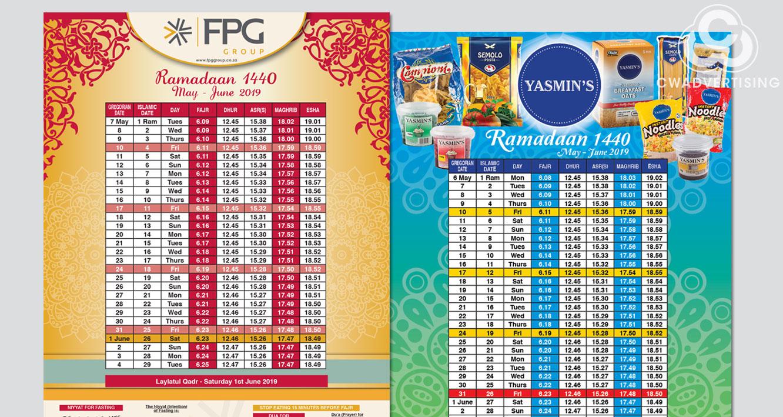 Ramadaan Timetables