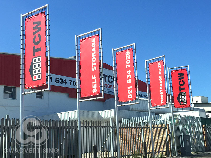 TCW Self Storage – Flags & Building Signage