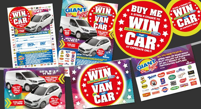 Giant Win a Car Entry Form Bunting
